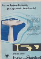 (pagine-pages)PUBBLICITA' IDEAL STANDARD  Tempo1957. - Libros, Revistas, Cómics