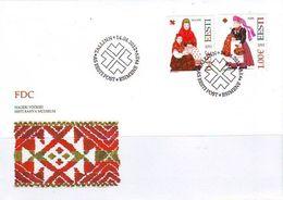 2400 - Estonia - 2012 - Folk Costumes Hageri And Nissi - FDC - Lemberg-Zp - Estonie