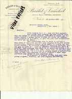06 - Alpes Maritimes-Nice- Facture Bailet & Vauchet - 24 Rue De L'Hotel Des Postes - Huiles D'Olive - 1926 - Réf. 44 . - France
