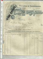 13 - Bouches Du Rhone - Sénas - Facture Charles J.Vignolo -Huilerie - Belle Vignette - 1906 - Réf. 44 . - France