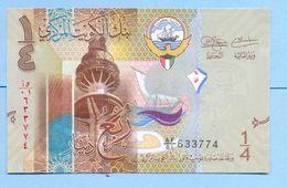 Kuwait 1/4 Dinar 2014 UNC (250 Fils)   # P- 29 - Koeweit