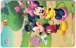 THAILAND H-087 Prepaid 1-2-Call - Walt Disney, Mouse Family - Used - Thaïlande