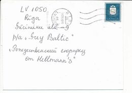 Mi 308 Solo Domestic Cover / Coat Of Arms / Re-valued Nominal - 11 January 1999 Riga - Letonia