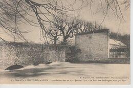 CPA Chatillon-sur-Seine - Inondations Des 20 Et 21 Janvier 1910 - Le Pont Des Boulangers Miné Par L'eau - Chatillon Sur Seine