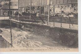 CPA Chatillon-sur-Seine - Inondations Des 20 Et 21 Janvier 1910 - Le Quai Des Halles - Chatillon Sur Seine
