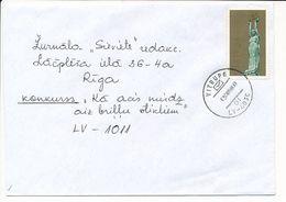 Mi 317 Solo Domestic Cover / Re-valued Nominal - 3 August 1998 Vitrupe - Letonia