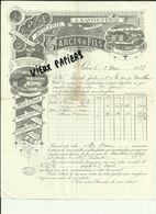 13 - Bouches Du Rhone - Salon  - Facture Garcin &  Fils -Huilerie - Belle Vignette - 1888 - Réf. 44 . - France