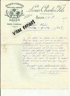 13 - Bouches Du Rhone - Salon  - Facture Louis Charles  Fils -Huilerie - Belle Vignette - 1902 - Réf. 44 . - France