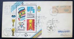 1981  URUGUAY Circulated Cover Recommended Postmark COPA DE ORO 80 FUTBOL World FOOTBALL Soccer - Gold Cup FIFA - Uruguay