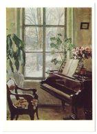 INTERIOR WITH PIANO, 1908-1910 By STANISLAV ZHUKOVSKY, Russian Painter. Unused Postcard - USSR, 1982 - Malerei & Gemälde