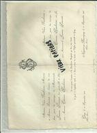 52- Haute Marne- Nogent- Faire Part De Mariage - 70 - Gray - Baubonne - Simonet  -1908 - Réf. 44 . - France