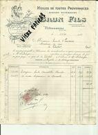 13 - Bouches Du Rhone - Pélissanne  - Facture Brun Fils - Huilerie - Vignette Angelot  -1915 - Réf. 44 . - France