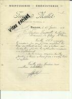 13 - Bouches Du Rhone - Salon  - Facture Fernand Mallet - Menuiserie  -1912 - Réf. 44 . - France