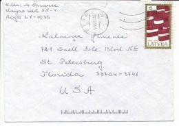 Mi 362 Solo Cover Abroad / Flag, Independence 75th Anniversary - 17 February 1994 Riga - Letonia
