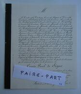 FAIRE-PART DECES 1886 SEGUR ESTISSAC LA ROCHEFOUCAULD KERGORLAY MERODE GALARD * - Avvisi Di Necrologio