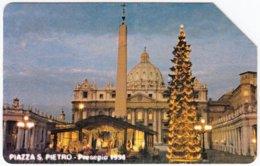 VATICAN A-112 Magnetic Telecom - Landmark, St. Peter's Basilica, Occasion, Christmas - Used - Vaticano