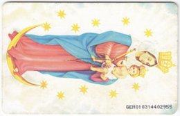 VENEZUELA B-739 Chip CanTV - Religion, Holy Picture - Used - Venezuela