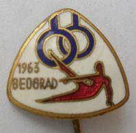 GYMNASTICS  - European Championship, Beograd Belgrade, Ex Yugoslavia, 1963 PINS BADGES P4/5 - Gymnastics
