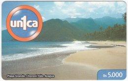 VENEZUELA B-762 Prepaid Un1ca - Landscape, Coast - Used - Venezuela