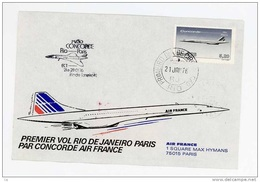 F 090  -  France  -  Concorde  :    Vol Inaugural Retour  Rio - Paris - Concorde