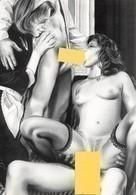 DEF Alias LARSEN - Scène érotique Hard - Nu Dessiné - Carte Signée Par L'artiste - Autographe - Dédicace - Dibujos