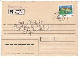 Mi 397 Registered Solo Cover Abroad / Bauska, Via Baltica - 7 May 1995 Riga-51 - Letonia
