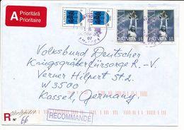 Registered Cover Abroad - 1 November 2000 Ventspils-1 - Letonia