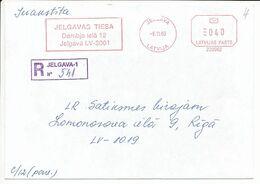 Registered Commercial Cover Meter No. 220062 - 6 November 2003 Jelgava - Pitney Bowes Freistempel - Letonia