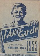 Calendrier L'AVANT-GARDE  1953  - RV - - Calendari