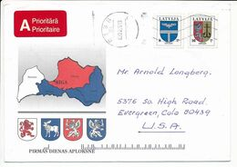 Cover Abroad / Coat Of Arms - 3 July 1995 Riga - Letonia