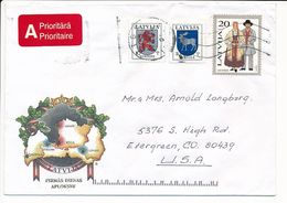 Cover Abroad / Coat Of Arms, National Costumes - 7 August 1995 Riga - Letonia