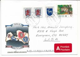 Cover Abroad / Coat Of Arms, WWF Rodent - 23 May 1995 Riga-84 - Letonia
