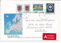 Cover Abroad / Coat Of Arms - 5 May 1995 Riga-84 - Letonia