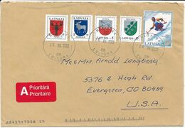 Cover Abroad / Coat Of Arms, Winter Olympics - 26 April 2002 Riga-84 - Letonia