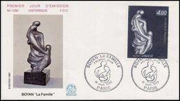 France 1982 1er Jour N° 2234 Sculpture Boyan Bulgare Citoyen D'honneur De La Ville De Chaville - 1980-1989