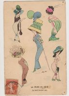 Carte Fantaisie Signée Xavier Sager / La Mode En 1910 - Le Tout Dernier Chic - Sager, Xavier