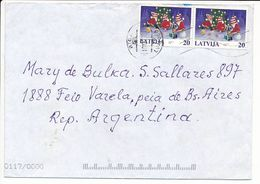 Cover Abroad / Christmas / OCR - 10 December 2001 Riga - Letonia