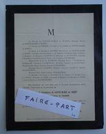 FAIRE-PART DECES 1887 SAINTE-MARIE Du NOZET De PARRON D'ALBIGNAC RUMFORD Paris * - Avvisi Di Necrologio