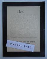 FAIRE-PART DECES 1887 THOME DE PERGAUD DODE De LA BRUNERIE Allex Drôme * - Avvisi Di Necrologio