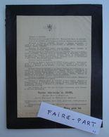 FAIRE-PART DECES 1889 GIGORD De BROISSIA De BOURNET Zouave Joyeuse Ardèche * - Avvisi Di Necrologio