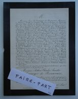 FAIRE-PART DECES 1889 LE CARRUYER De BEAUVAIS BOTTU De LIMAS De TOYTOT Paris * - Avvisi Di Necrologio