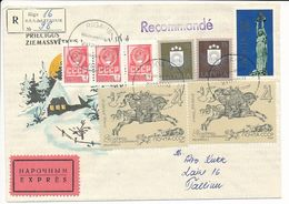 Express, Special Delivery, Registered Mixed Franking Cover Abroad - 29 December 1991 Riga-16 - Letonia