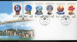 F 095  -  Hong Kong  -  1997  -  FDC  :  Yv  838-43  (o) - 1997-... Chinese Admnistrative Region