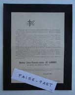 FAIRE-PART DECES 1891 LAMBERT De MIRAVAL De TEISSONNIER ROUVIERE Ourches Drôme * - Avvisi Di Necrologio