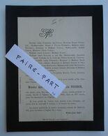 FAIRE-PART DECES 1893 FOUGERON PASCAL LESSARD PAYAN MONTLAHUC AURIVEL Valence * - Avvisi Di Necrologio