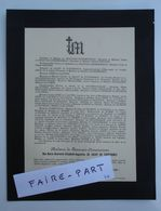 FAIRE-PART DECES 1901 BEAUVAIS-CHENEMOIREAU De SACHY FOURDRINOY DEPEYRE Cahors * - Avvisi Di Necrologio