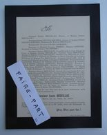 FAIRE-PART DECES 1902 BREUILLAC TRIBERT CAPETTER CASSAGNE Niort Deux-Sèvres * - Avvisi Di Necrologio