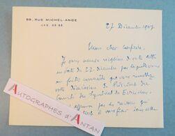 André DESCAVES 1947 écrivain Producteur à Armandy Carte Lettre Autographe - Autographes