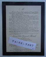 FAIRE-PART DECES 1908 BERAL MATURIé SALA CANGAREL MIRANDOL 46-Frayssinet-Gélat * - Avvisi Di Necrologio