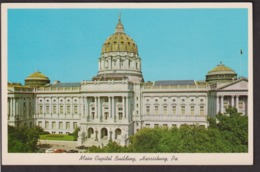 Postcard - USA - Circa 1960 - Main Capitol Building - Non Circulee - A1RR2 - Harrisburg